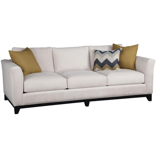 Jonathan Louis Angelo Contemporary Estate Sofa with Flared Track Arms