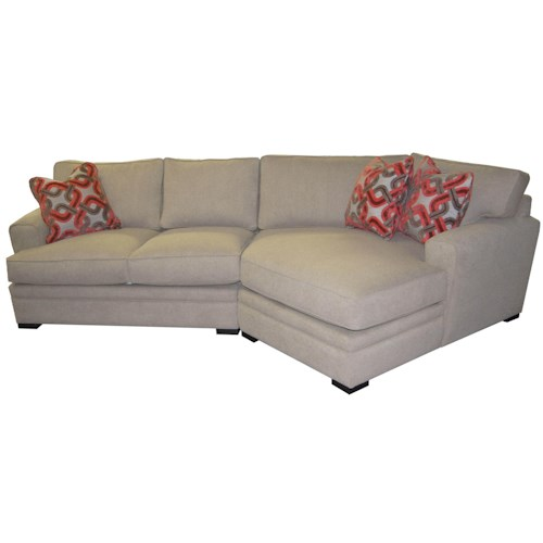 Cisco Aries Casual Sectional Sofa with Rolled Arms