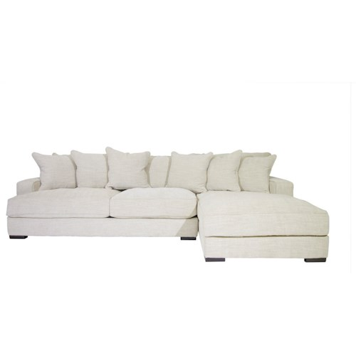 Jonathan Louis Axis II Contemporary Sectional Sofa with Chaise
