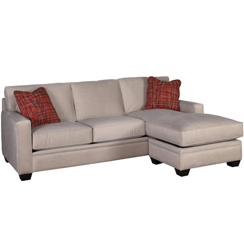 Jonathan Louis Bailey Contemporary Sectional with Chaise Ottoman