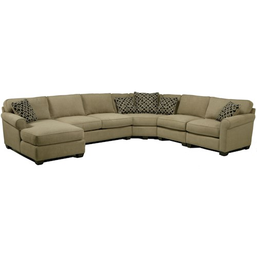 Jonathan Louis Benjamin Sectional Sofa with Seating Wedge & Chaise