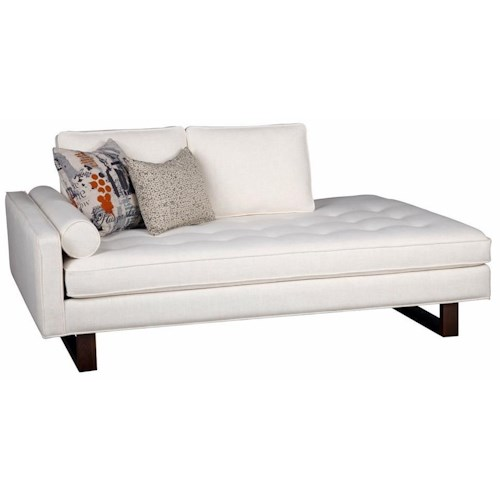 Jonathan Louis Bennett Contemporary Left Arm Facing Chaise with Tufted Cushion