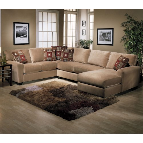 Jonathan Louis Benson L-Shape Sectional with RAF Chaise Lounge