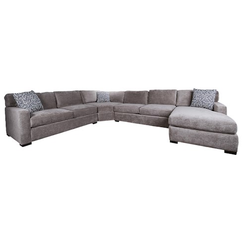 Morris Home Furnishings Blythe 4-Piece Sectional