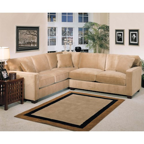 Jonathan Louis Bradford 2 Piece Stationary Sectional Fashion Furniture Sofa Sectional Fresno