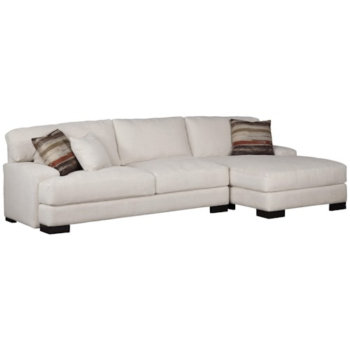 Jonathan Louis Burton  Modern Sectional with Right Chaise