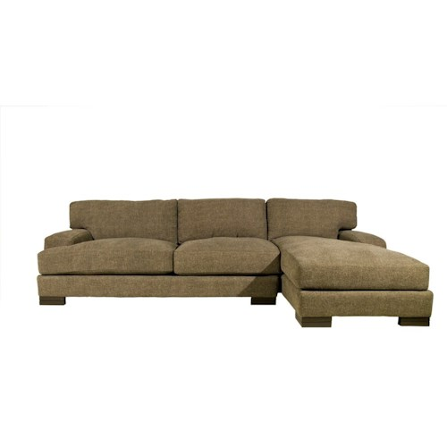 Burton Leather Sofa: Jonathan Louis Burton Modern Sectional With Right Chaise