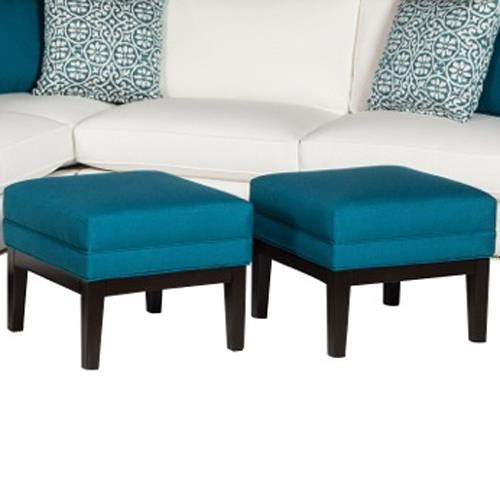 Cisco Caitlyn Traditional Ottoman with Tapered Legs