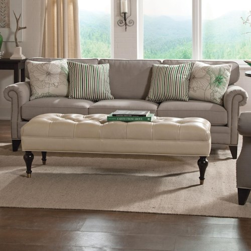 Cisco Caitlyn Traditional Estate Sofa with Rolled Arms and Nailhead Trim