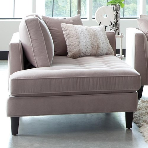 Jonathan Louis Calista Left Arm Facing Chaise Lounge with Tufted Seat and Toss Pillows