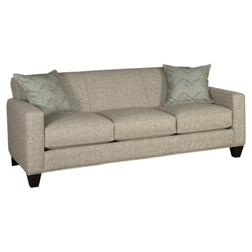 Jonathan Louis Cameron Contemporary Stationary Sofa with Track Arms and Wood Legs