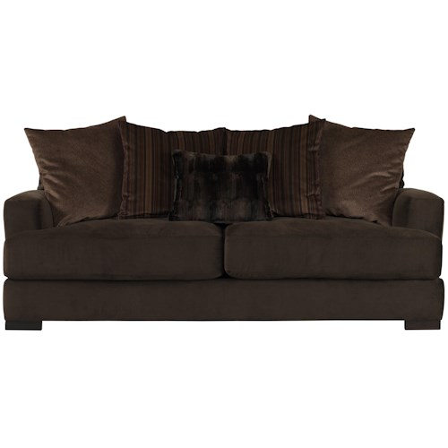 Jonathan Louis Carlin Sofa with Loose Back Pillows