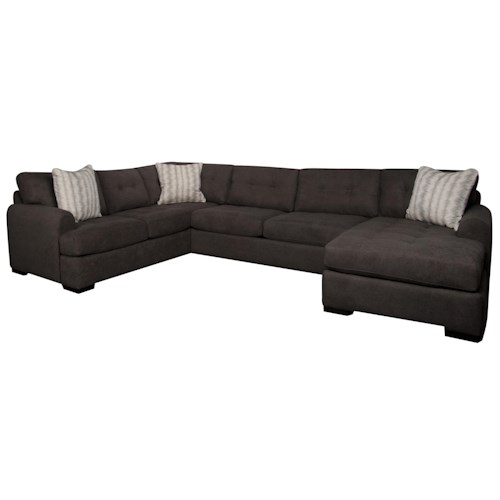 Morris Home Furnishings Carson 3-Piece Sectional