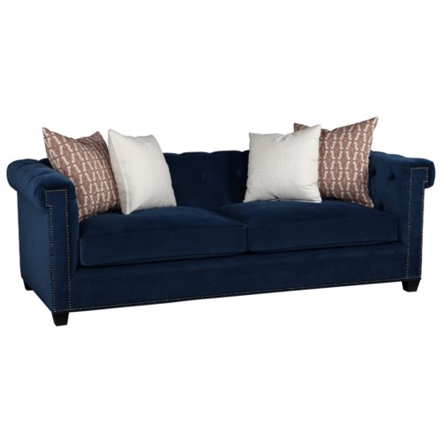 Jonathan Louis Charlize Stationary Chesterfield Sofa With