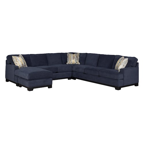 Jonathan Louis Choices - Kronos Contemporary 4-Piece Sectional Sofa with Left-Arm-Facing Chaise and Track Arms