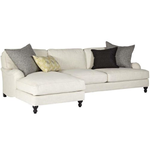 Cisco Clarice Traditional Sectional with Stacked Bun Feet