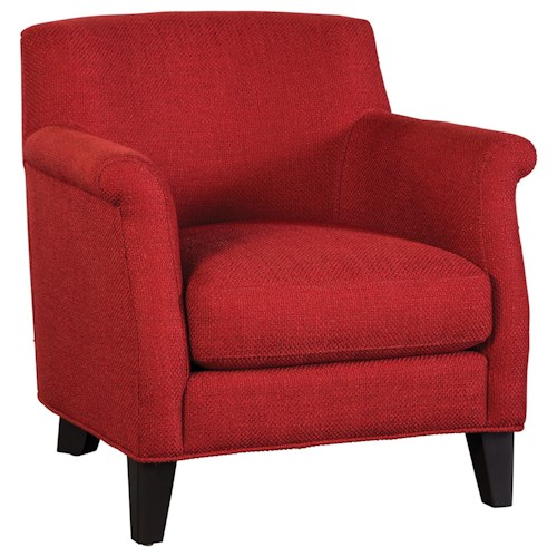 Jonathan Louis Cobi Casual Accent Chair with Rolled Arms