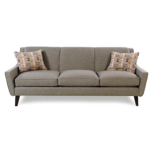 Cisco Vibe Mid Century Modern Tight Back Sofa