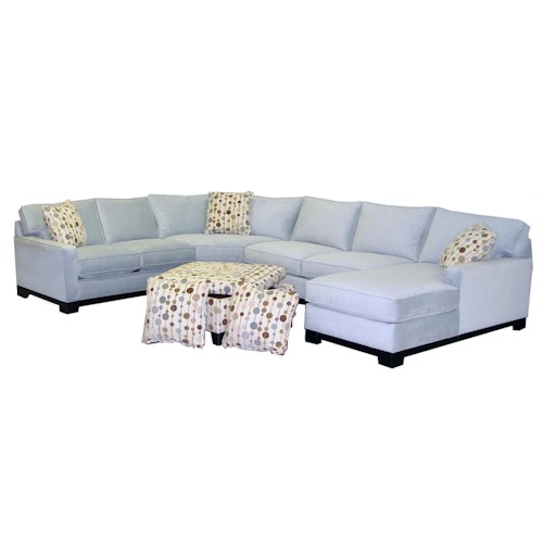 Jonathan louis gemini contemporary four piece sectional for 4 piece sectional sofa with chaise