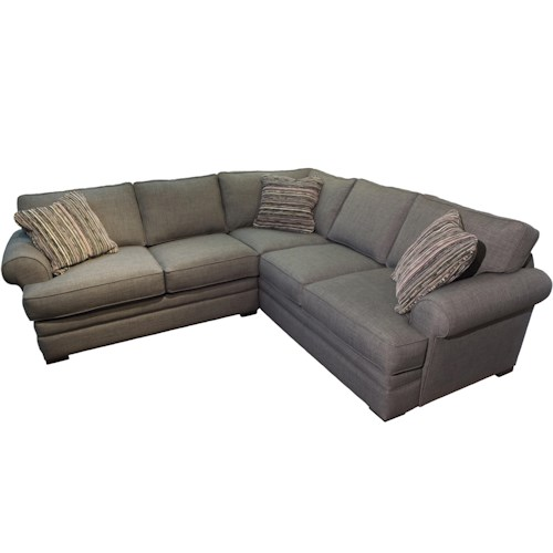 Jonathan Louis Hermes Casual Sectional with Sock Rolled Arms