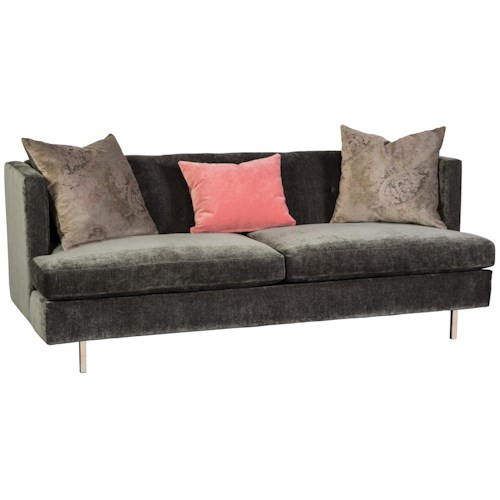 Cisco Huntley Contemporary Sofa with Tuxedo Styled Track Arms