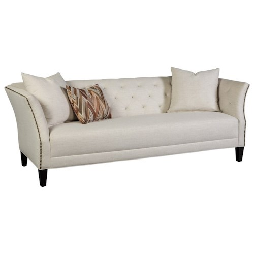 Jonathan Louis Layla Transitional Button-Tufted Sofa with Flared Arms and Nailheads