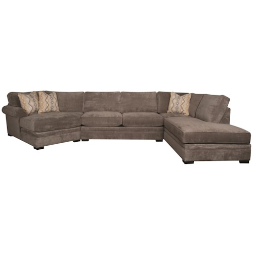 Linda 3 Piece Sectional Morris Home Sofa Sectional