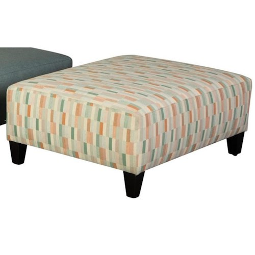 Jonathan Louis Ottomans Casual Small Rectangle Ottoman with Tapered Legs