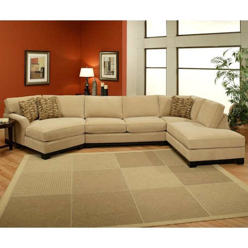 Jonathan Louis Sagittarius Casual 3 Piece Sectional With