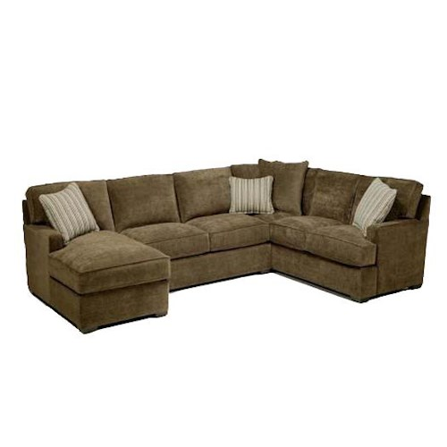 Jonathan Louis Tyler  Contemporary 3-Piece Sectional with Chaise