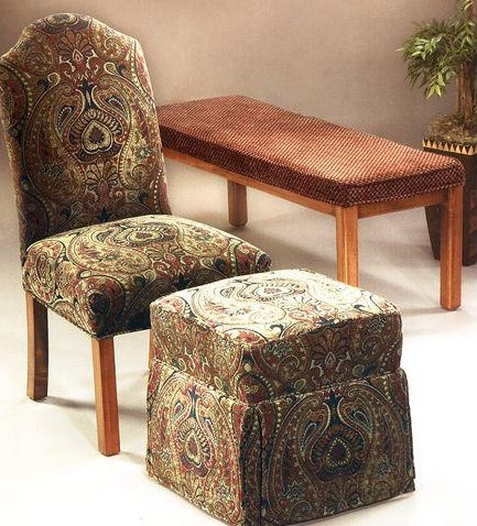 Shown with Coordinating Parsons Chair and Cube Ottoman Collection Pieces