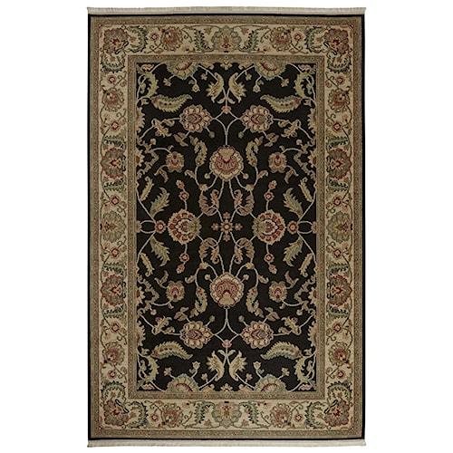 Karastan Rugs Ashara 8'8x10' Agra Black Rug