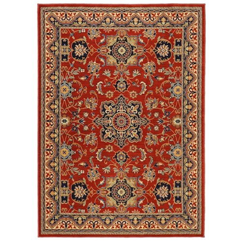 Karastan Rugs English Manor 2'6x8' Manchester Red Rug Runner