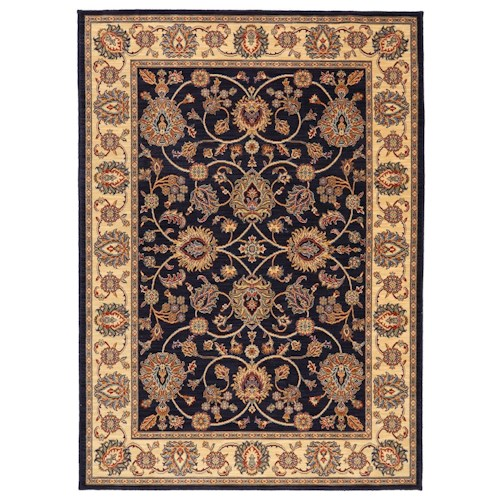 Karastan Rugs English Manor 2'6x12' Oxford Navy Rug Runner