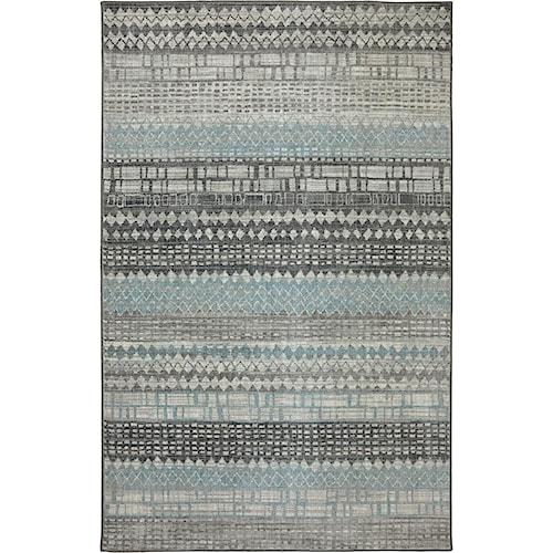 Karastan Rugs Euphoria 5'3x7'10 Eddleston Ash Grey Rug