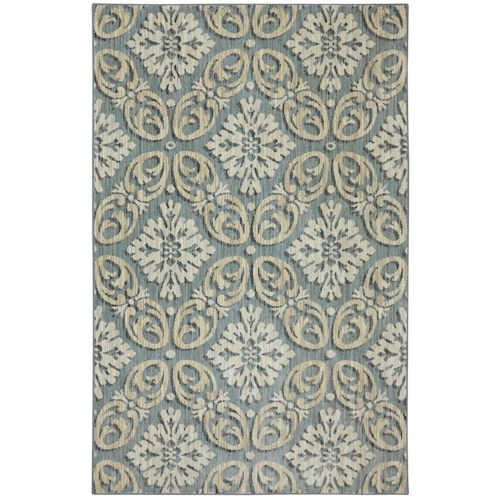 Karastan Rugs Euphoria 5'3x7'10 Findon Bay Blue Rug