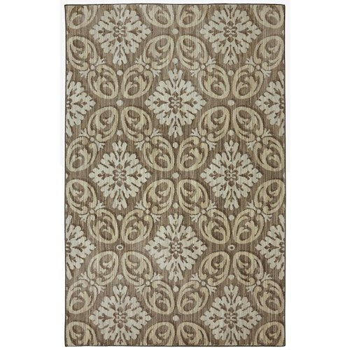 Karastan Rugs Euphoria 3'6x5'6 Findon Brown Rug