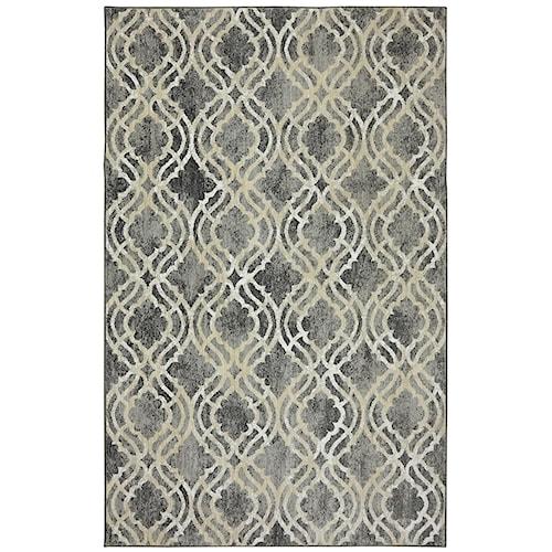 Karastan Rugs Euphoria 5'3x7'10 Potterton Ash Grey Rug