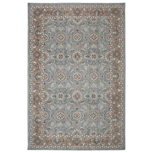 Karastan Rugs Euphoria 5'3x7'10 Leinster Willow Grey Rug