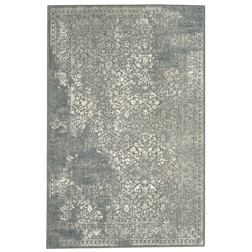 Karastan Rugs Euphoria 5'3x7'10 Ayr Willow Grey Rug