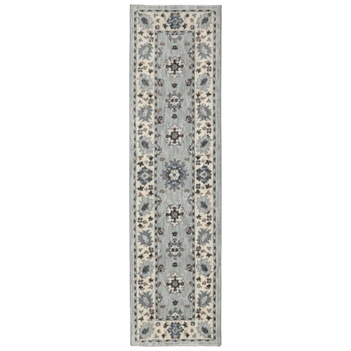 Karastan Rugs Euphoria 2'1x7'10 Kirkwall Willow Grey Rug Runner
