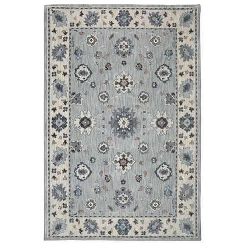 Karastan Rugs Euphoria 5'3x7'10 Kirkwall Willow Grey Rug