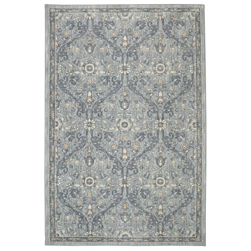Karastan Rugs Euphoria 3'6x5'6 Galway Willow Grey Rug