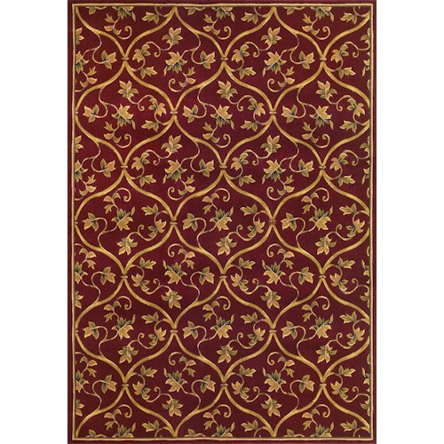 Kas Corinne 7.7 x 10.10 Area Rug : Red Wine