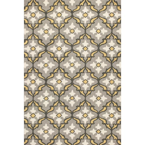 Kas Harbor 2' X 3' Grey/Gold Mosaic Area Rug