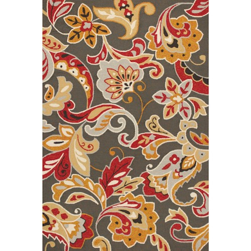 Kas Harbor 2' X 3' Taupe Flora Area Rug