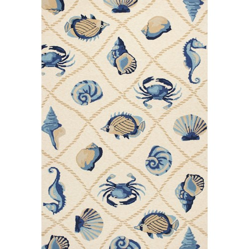 Kas Harbor 2' X 3' Sand Seaside Area Rug