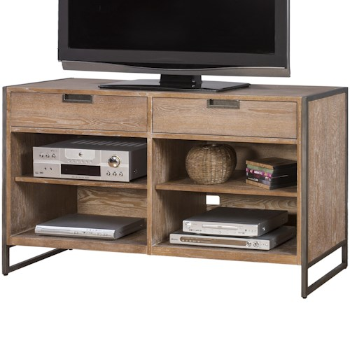 kathy ireland Home by Martin Belmont Sofa Table/TV Console with 4 Shelves and 2 Drawers