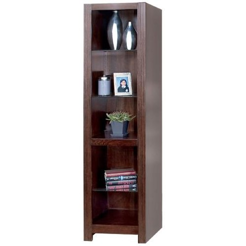 kathy ireland Home by Martin Carlton Open Bookcase w/ 3 Adjustable Glass Shelves
