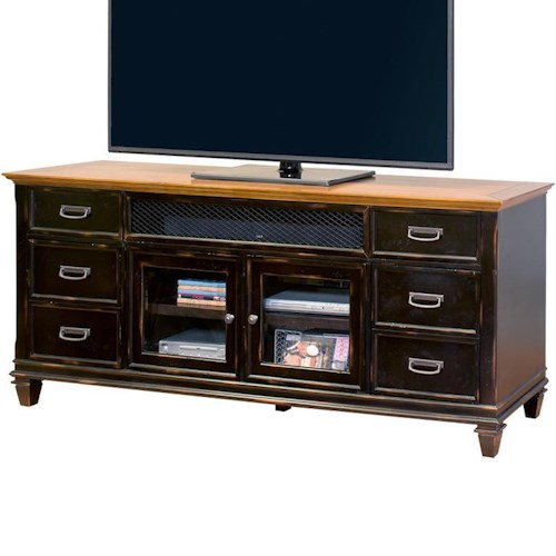 kathy ireland Home by Martin Hartford TV Console with 4 Doors and 2 Drawers